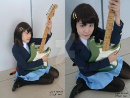Yui and green Guitah by jycll