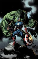 Hulk and Cap. America Colors by JacksonHerbert