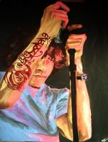 Brandon Boyd in Pink by laralynn916