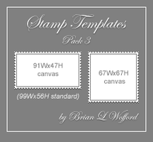 Stamp Templates Pack 3 by TheLoveTrain