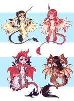 Kirins and Dragons - Adopts (CLOSED) by Blackraven-Adopts