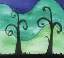 The trees of the blue by Ana-The-Unknown