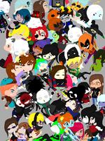 My Many OCs and Me by sarcasticHoarder