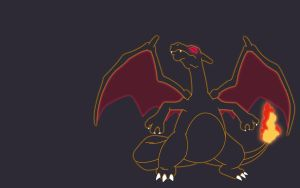 Minimalist Charizard Wallpaper by FavsCo