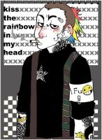 .kiss the rainbow in my head. by Muku