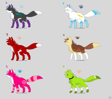 Wolf Adoptables by lemoncave