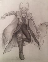 Loki drawing by AmbiguousOuroboros