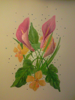 Glads and Callas by BotanyCoder