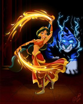 Firebender Princess Jasmine by racookie3