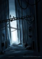 Dark Alleyway by VonStreff