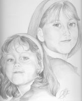 Portrait Commission: Sisters 2 by AuralayKristine