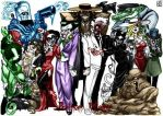 Batman Villains Line-up 1 by jokercrazy