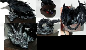 Despayr! Black dragon trinket box by Secretvixen