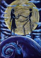 Nightmare Before Christmas- Jack and Sally by Tater-Vader