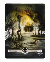 MTG Card Alter - Basic Land, Swamp by InVenatrix