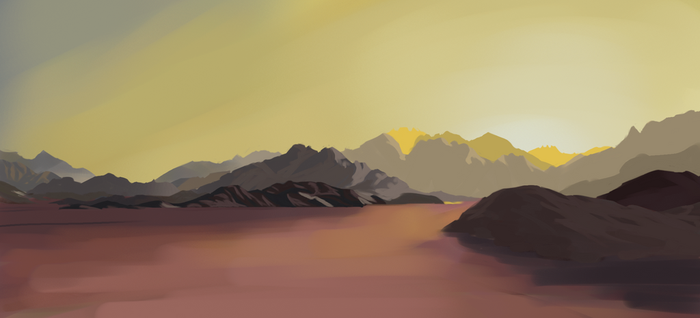 Desert Mountains by Mesmer12345