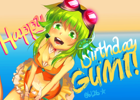 Happy B-day GUMI by Ryucchan