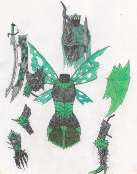 MLP:FIM armour: Queen Chrysalis by tod309