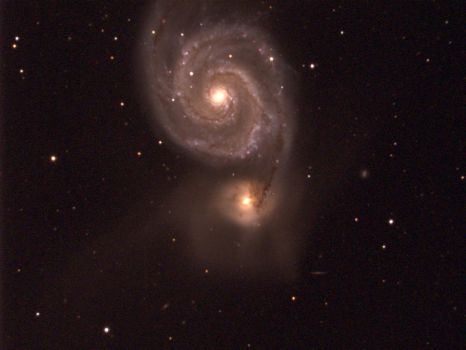 The 2nd picture of M51, the Whirlpool Galaxy by Astronut96