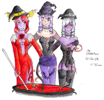 Witches Three by LadyDragonKia