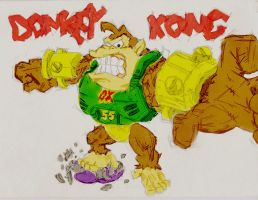 Donkey Kong by Quosui