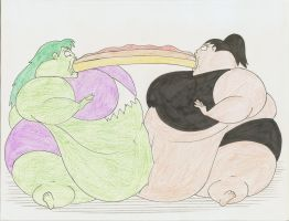 COM She Hulk and Sif feedees by Robot001