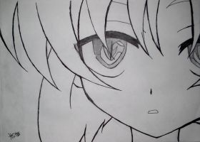 Higurashi:Rena in the closeup by AnimeFan2006