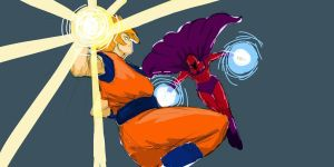 goku vs magneto by AtariBetch