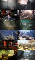 environment art of game  The Secret World by limiao