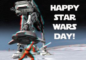 Happy Star Wars Day 3-D conversion by MVRamsey