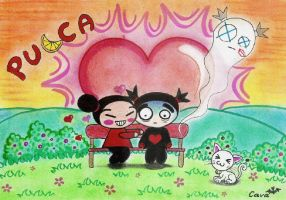Pucca and Garu by Cava-chan