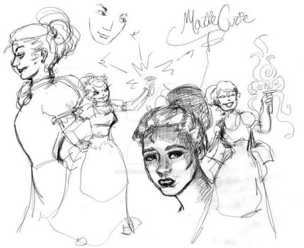Marie Curie Doodles by Suzanimated
