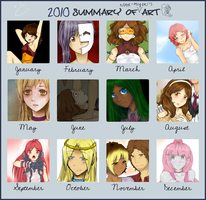2010 Summary of Art by notbecca