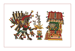 mictlantecuhtli making an offering (codex cospi) by ltiana355