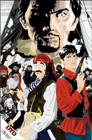Dylan Dog and Pirates by ClausDelirium