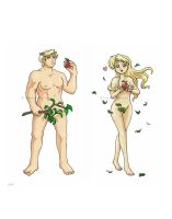 Adam and Eve by PigeonKill