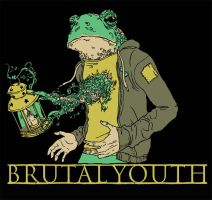 Brutal Youth T-shirt by mikefeehan