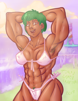 Muscle Beach Fun (SPECIAL) by tanukicrafter