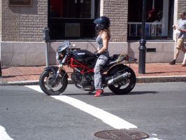 motor bike rider boston by sv7who