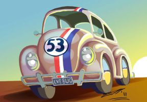 Herbie the Love Bug by sketchiegambit