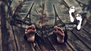 Polina Dirty Feet Barefoot Autumn Dreams by bocuko by bocukom