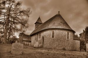 Sepia Church 11589328 by StockProject1