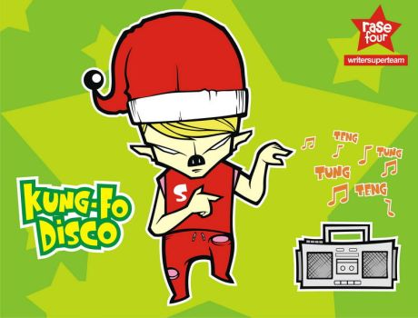 kungfo disco santa by rase4