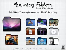 Macintag Folders. Black Edge by igabapple