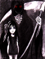 + Death and his little lady + by PurpleRAGE9205
