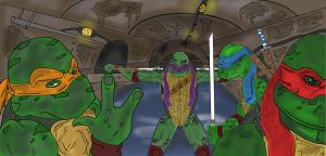 TMNT Brothers by Algelis