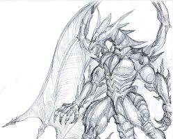 Sketch: Bahamut by conquerorsaint