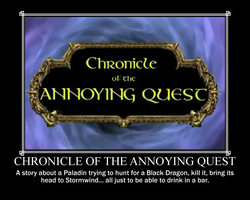 Chronicle of the Annoying Quest Motivational by Sephirath21000