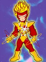 Chibi Firestorm by JustPlainJoe