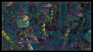 Psychedelic Towers by eccoarts